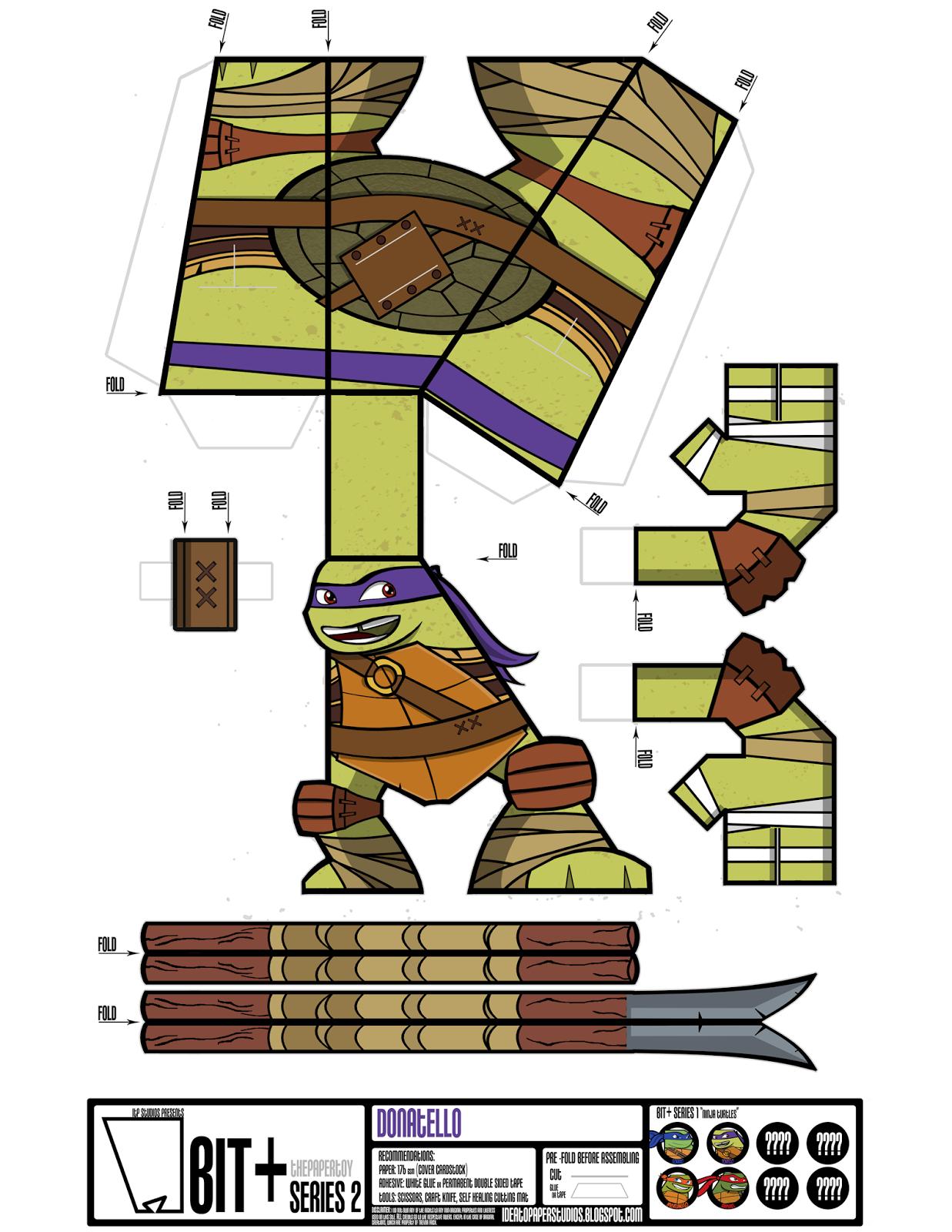 Поделки из бумаги черепашек ниндзя